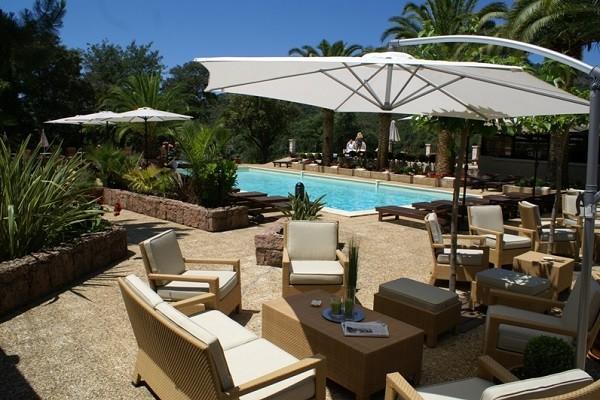 Terrasse - Hôtel Domaine de l'Oriu 3* Serriera France Corse