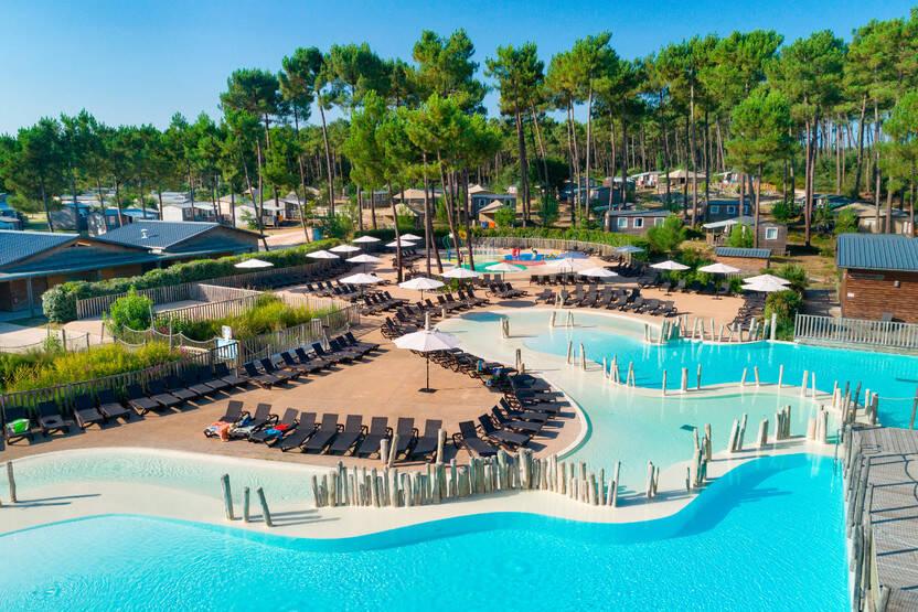 Piscine - Camping Sandaya Soustons Village 5* Soustons France Cote Atlantique