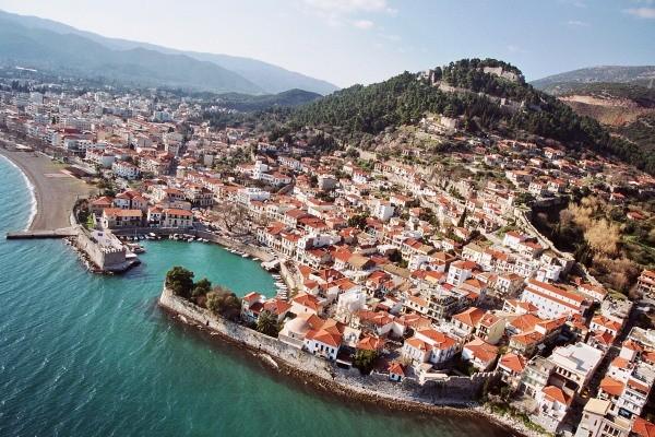 Vue panoramique - Hôtel Nafpaktos 3* Araxos Grece