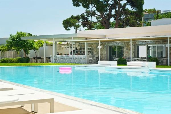 Piscine - Hôtel Marathon Beach Resort 3* Athenes Grece