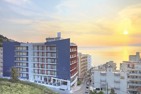 Facade - Hôtel Smartline Semiramis 4* Rhodes Grece