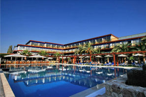 Grece-Rhodes, Hôtel All Senses Ocean Blue Seaside Resort en chambre double Comfort vue jardin