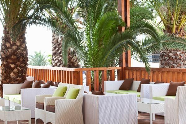 Terrasse - Hôtel Smartline Cosmopolitan 4* Rhodes Grece