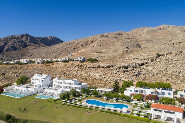 Vue panoramique - Hôtel Lindos Sun 4* Rhodes Grece