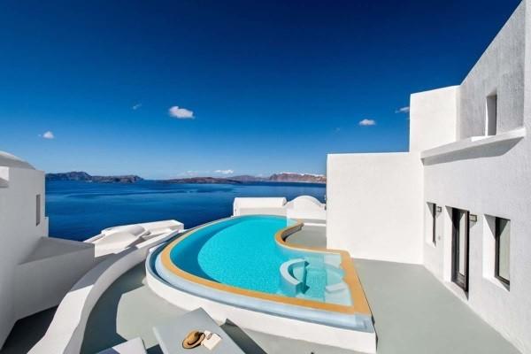 Piscine - Hôtel Ambassador Aegan Luxury & Suites 5* Santorin Grece