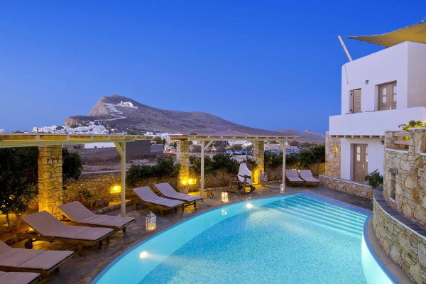 Piscine - Hôtel Kallisti 4* Santorin Grece