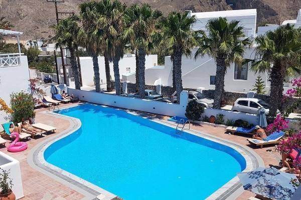 Piscine - Hôtel Kouros Village 4* Santorin Grece