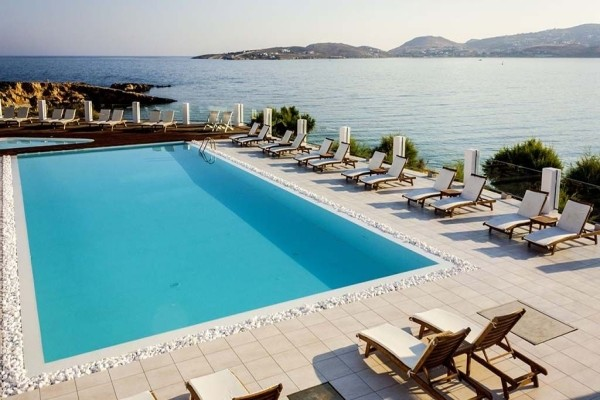 Piscine - Hôtel Paros Bay 3* Santorin Grece