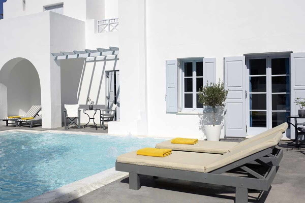 Piscine - Hôtel Santorini Kastelli Resort 5* Santorin Grece