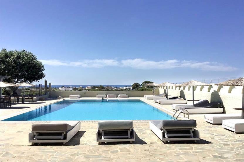 Piscine - Hôtel Thera Mare 4* Santorin Grece