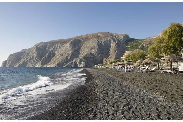 Plage - Hôtel Santorini Kastelli Resort 5* Santorin Grece