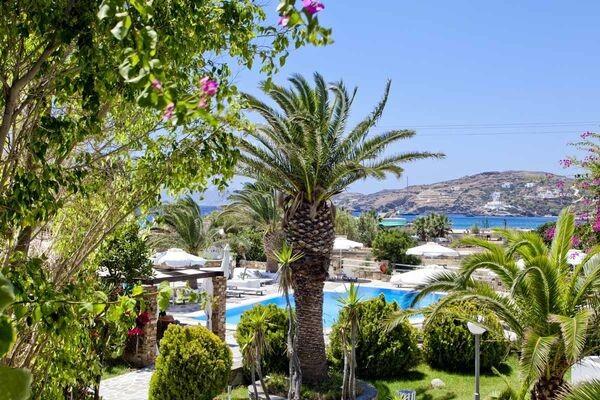 Vue panoramique - Hôtel Dionysos Sea Side Resort 4* Santorin Grece