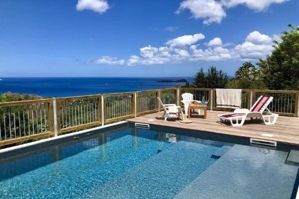 Piscine - Hôtel Les Bungalows de L'Ilet + Location de voiture Pointe A Pitre Guadeloupe
