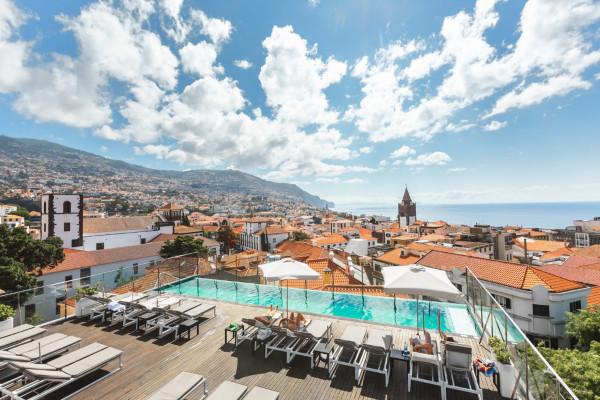 Vue panoramique - Hôtel Castanheiro Boutique Hôtel 4* Funchal Madère