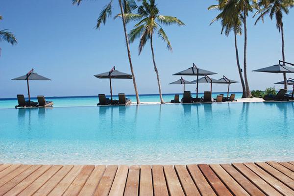Piscine - Hôtel Constance Halaveli Resort 5* Male Maldives