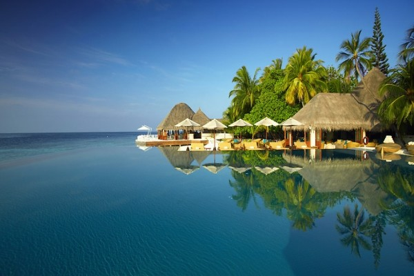 Piscine - Hôtel Huvafen Fushi Maldives 5* Male Maldives