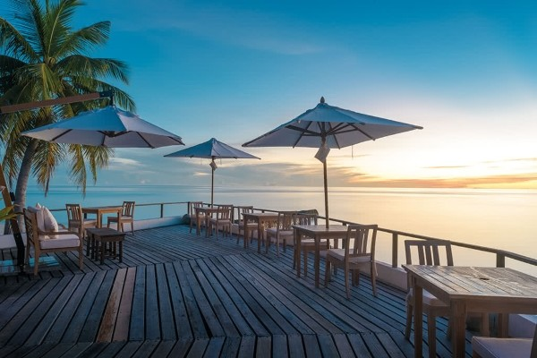 Restaurant - Hôtel Makunudu Island 3* Male Maldives