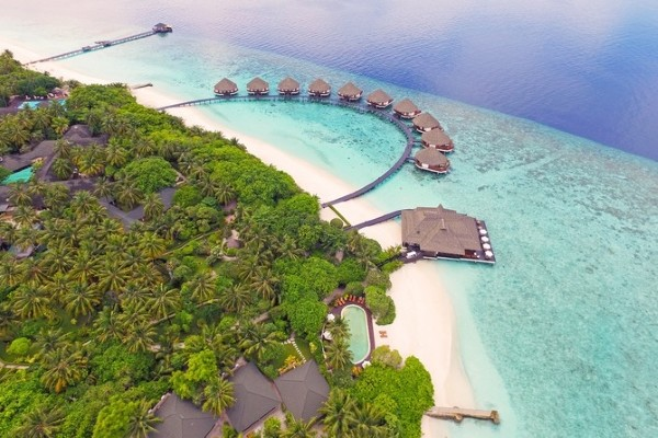 Vue panoramique - Hôtel Adaaran Select Meedhupparu 4* Male Maldives