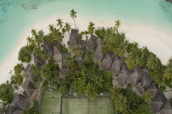 Vue panoramique - Hôtel Angaga Island Resort & Spa 4* Male Maldives