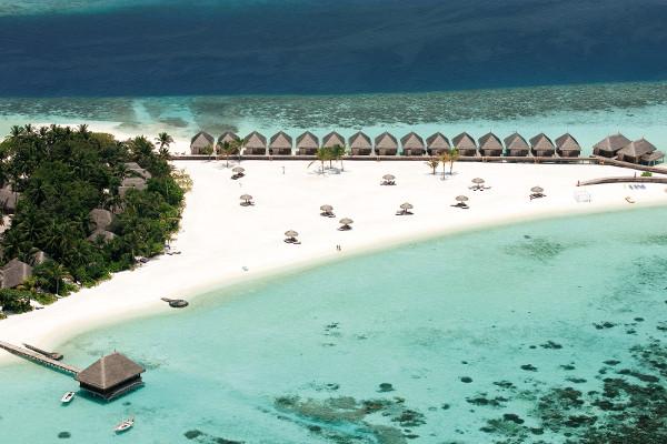 Vue panoramique - Hôtel Constance Moofushi Resort 5* Male Maldives