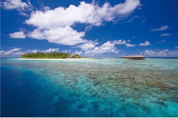 Vue panoramique - Hôtel Filitheyo Island Resort 4* Male Maldives