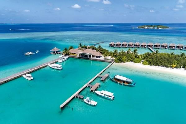 Vue panoramique - Hôtel Hôtel Sheraton Maldives Full Moon Resort & Spa 5* Male Maldives