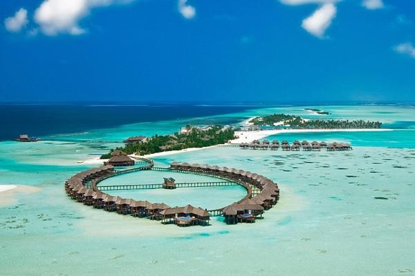 Vue panoramique - Hôtel Olhuveli Beach Resort & Spa 4* Male Maldives