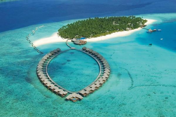 Vue panoramique - Hôtel Sun Siyam Vilu Reef 5* Male Maldives