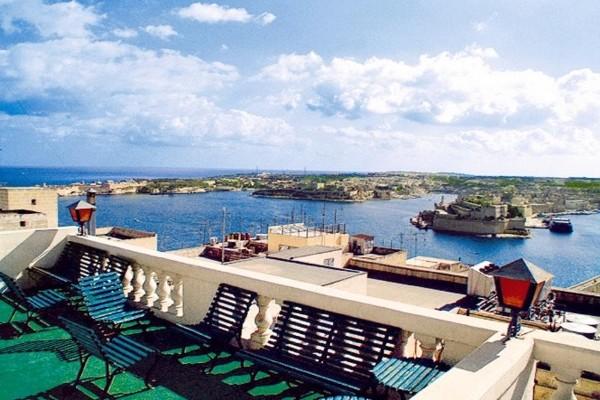 Vue panoramique - Hôtel Castille 3* La Valette Malte
