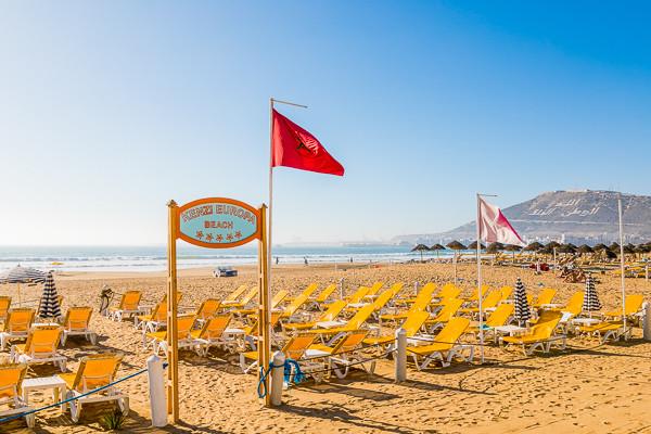 Plage - Hôtel Kenzi Europa 4* Agadir Maroc