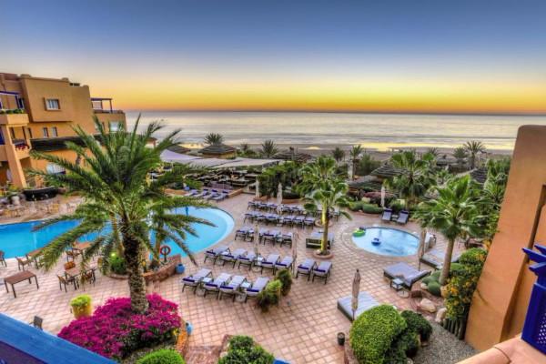 Vue panoramique - Hôtel Paradis Plage Resort 4* sup Agadir Maroc