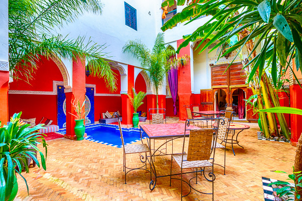 Patio - Dromadaire Bleu Marrakech Maroc