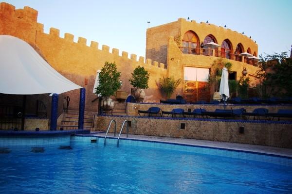 H tel le kasbah mirage marrakech maroc fram for Piscine demontable maroc