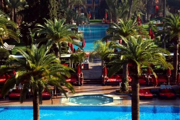 H tel sofitel marrakech lounge and spa marrakech maroc fram - Piscine sofitel marrakech ...