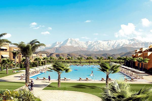 Piscine - Hôtel Splashworld Aqua Mirage 4* Marrakech Maroc