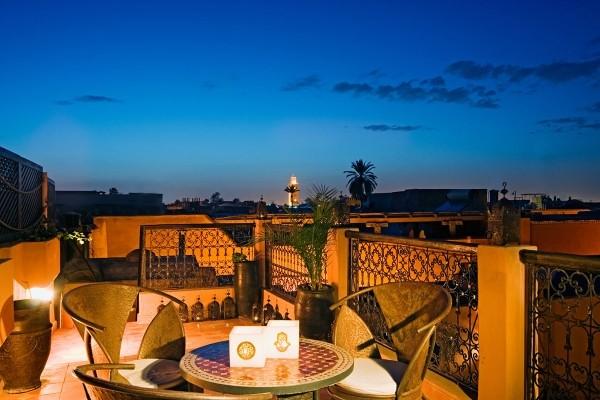 Terrasse - Hôtel Riads Angsana Collection 4* Marrakech Maroc