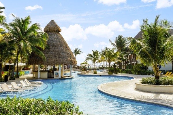 Piscine - The Reef Coco Beach 4* Cancun Mexique