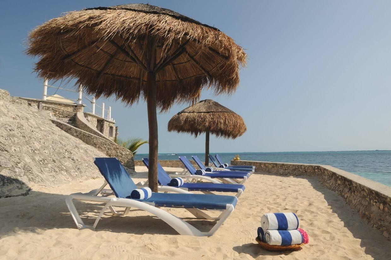 Plage - Hôtel Dos Playas Faranda 3* Cancun Mexique