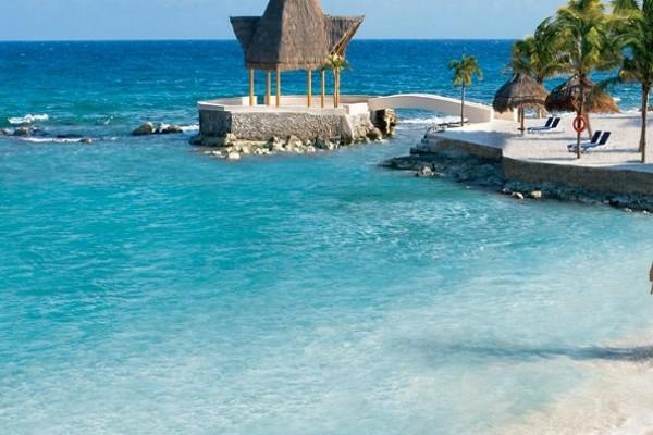 Plage - Hôtel Dreams Puerto Aventuras Resort & Spa 4* Cancun Mexique