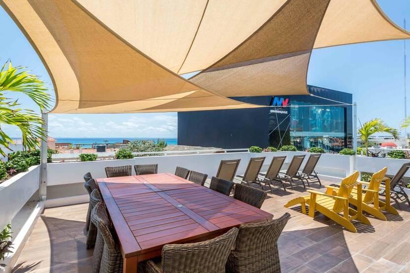 Terrasse - Hôtel Adult Only Xtudio Comfort 3* Cancun Mexique
