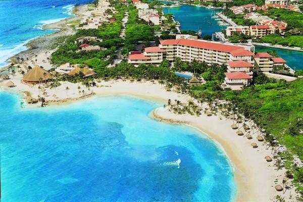 Vue panoramique - Hôtel Dreams Puerto Aventuras Resort & Spa 4* Cancun Mexique