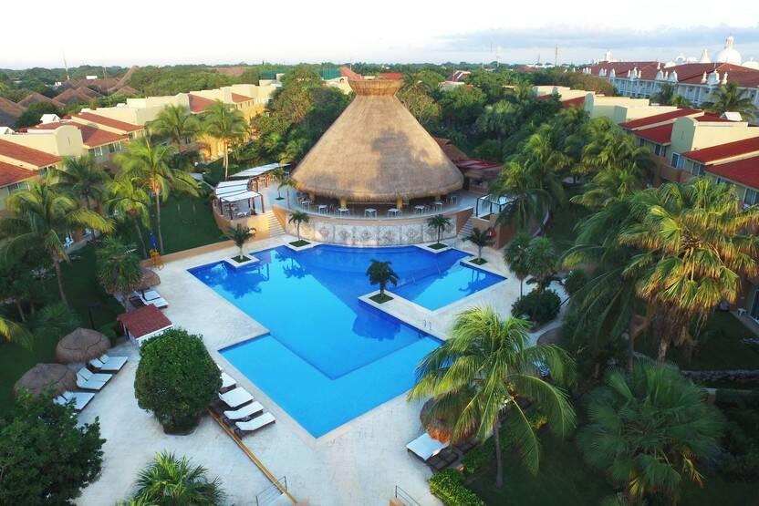Vue panoramique - Hôtel Viva Wyndham Azteca 4* Cancun Mexique