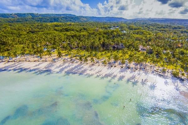 Vue aérienne de la plage de Samana - Coralia Grand Paradise Samana