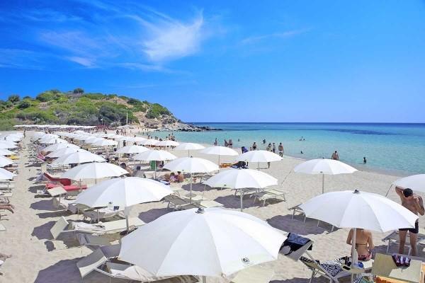 Plage - Hôtel Eden Village Le Spiagge di San Pietro 4* Cagliari Sardaigne