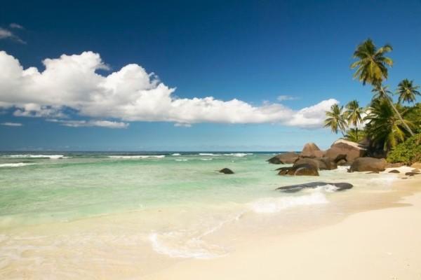 Vue de la plage - Hilton Seychelles Labriz Resort and Spa