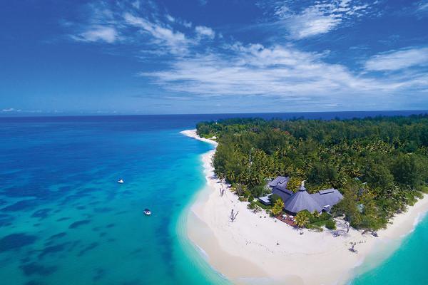 Vue panoramique - Hôtel Denis Private Island 4* Mahe Seychelles