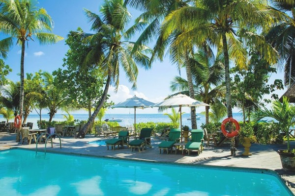 Piscine - Combiné hôtels Les 2 îles : Praslin Indian Ocean Lodge + Mahé Avani Seychelles Barbaron Praslin Seychelles