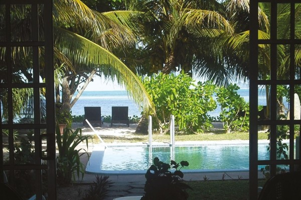Piscine - Hôtel Palm Beach 2* Praslin Seychelles