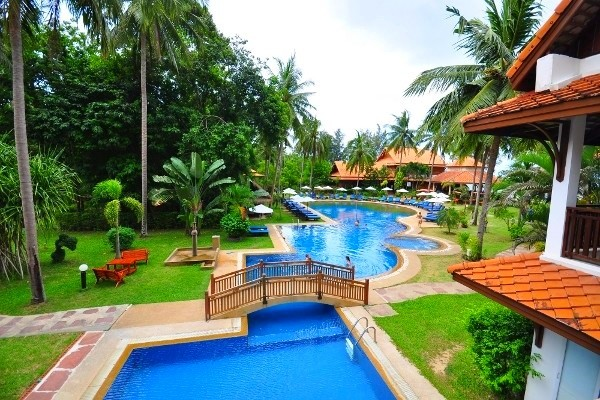 Piscine - Hôtel Coral Bang Saphan 4* Bangkok Thailande