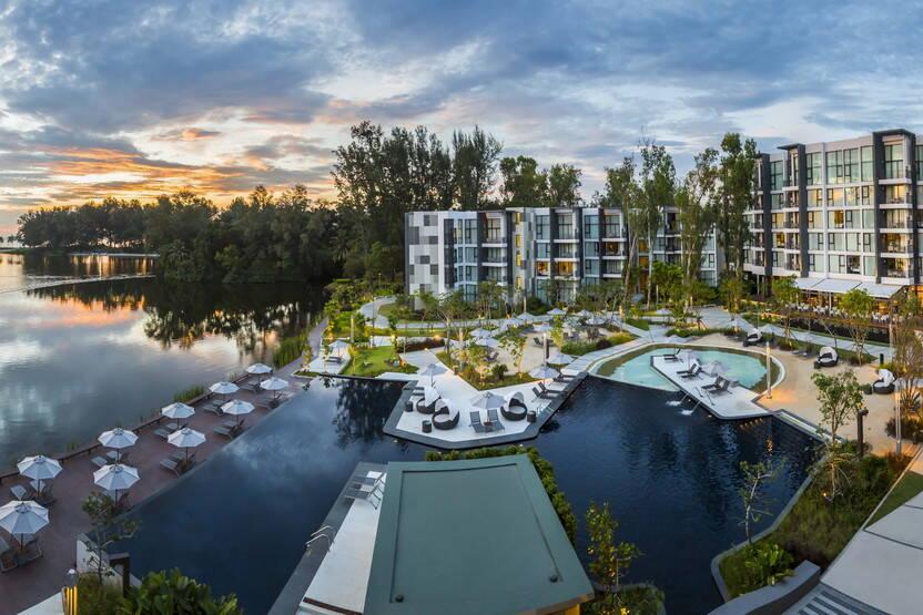 Vue panoramique - Hôtel Cassia Phuket Bangtao Beach 4* Phuket Thailande